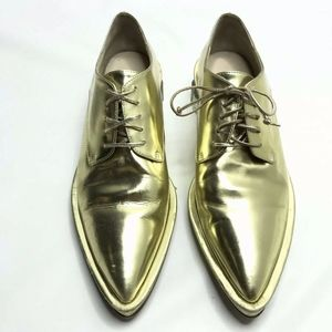 Simone Rocha Gold Oxford Shoes Pointed
